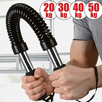 f/ür Arm und Unterarm Biegehantel Power Twister 40 oder 50kg K/önigsfeder Armtrainer Bizeps und Brust Krafttraining Stahl Widerstandsfeder 20 Spannfeder 30 Expander Schwarze Farbe