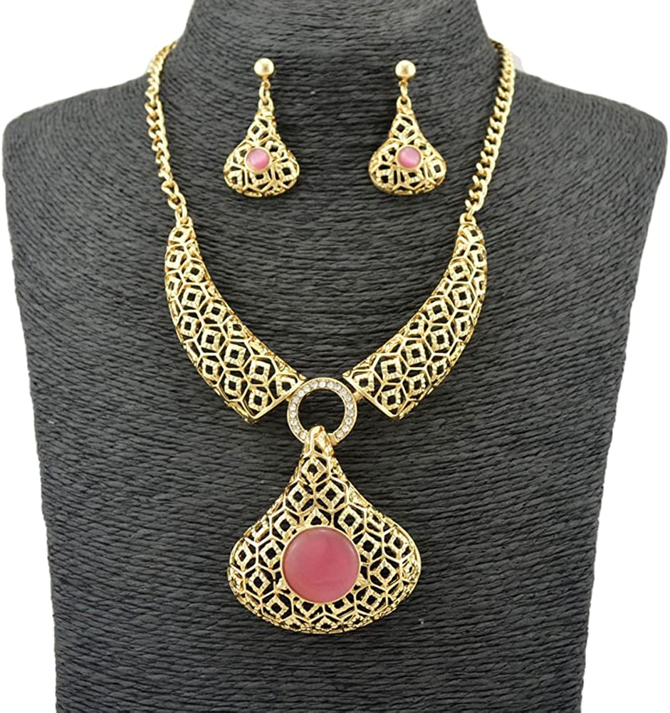 Yellow Gold plated Fashion Jewelry Sets african costume Richy-Glory