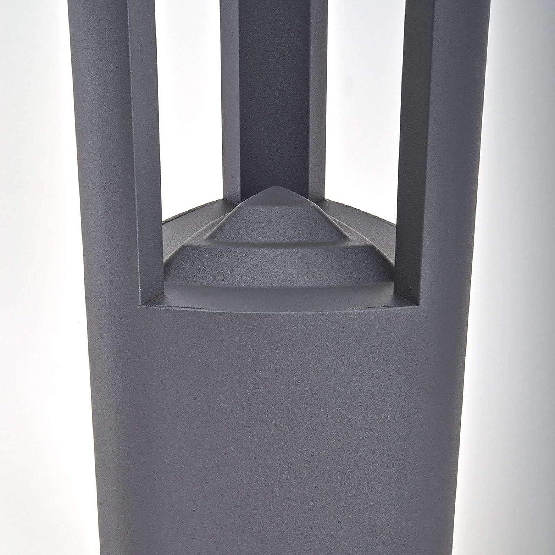 en Noir en Aluminium Lampe Jardin LED Eclairage Exterieur Nanna Borne Lumineuse Exterieur Moderne /à 90 lampes, A+ Luminaire Exterieur de Lampenwelt
