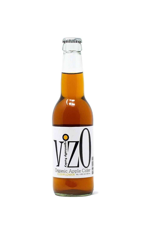 VizO Organic Sparkling Apple Cider with Organic Elderflower