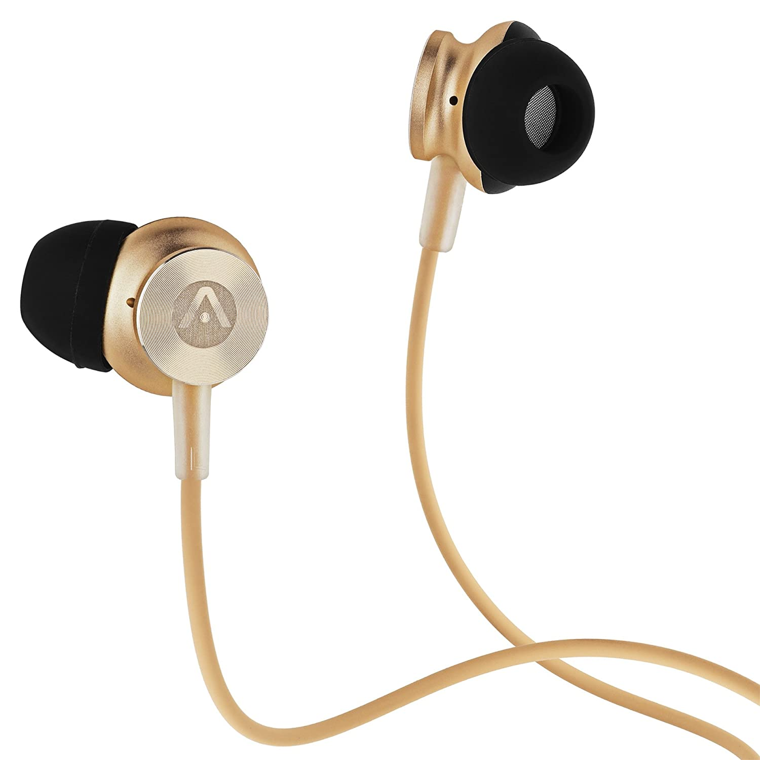Audiomate A180 Hi-Fidelity Noise Isolating Wired Stereo Stainless Steel Metal in-Ear Earphone Earbuds with Built-in Microphone and Remote | 4