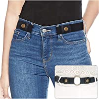 """No Buckle Ladies Elastic Belt for Women Mens Invisible Jeans Pants Dress Stretch Waist Belt up to 48"""" Christmas Gift by SUOSDEY"""