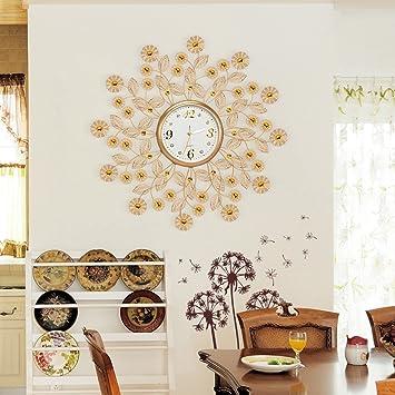 Unbekannt Uhr Wanduhr Wohnzimmer Moderne Kreative Goldene Wanduhr Eisen  Esszimmer Schlafzimmer Ruhige Quarz Uhr