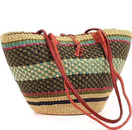 Amazon.com: Fair Trade Ghana Bolga African Shoulder Bag 16 ...