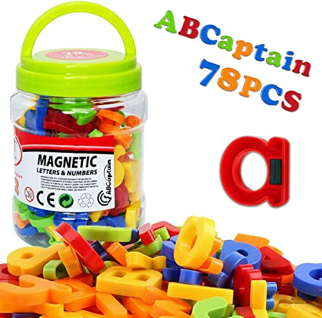 Educational toys For Kids Magnetic Letters Numbers Alphabet Fridge Magnets New