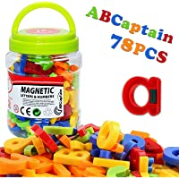 ABCaptain Magnetic Letters Numbers Alphabets ABC 123 Fridge Magnets Plastic Educational Toy Set Uppercase Lowercase Math…