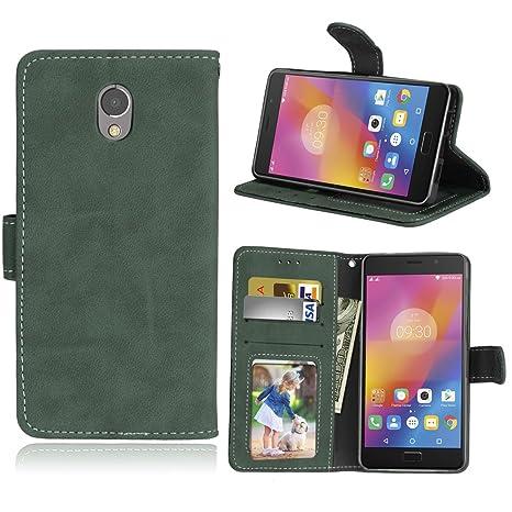 Funda Lenovo Vibe P2 P2a42 Case,Bookstyle 3 Card Slot PU Cuero cartera para TPU