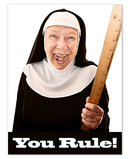Amazon you rule note cards humorous nun funny greeting you rule note cards humorous nun funny greeting cards with envelopes blank on m4hsunfo