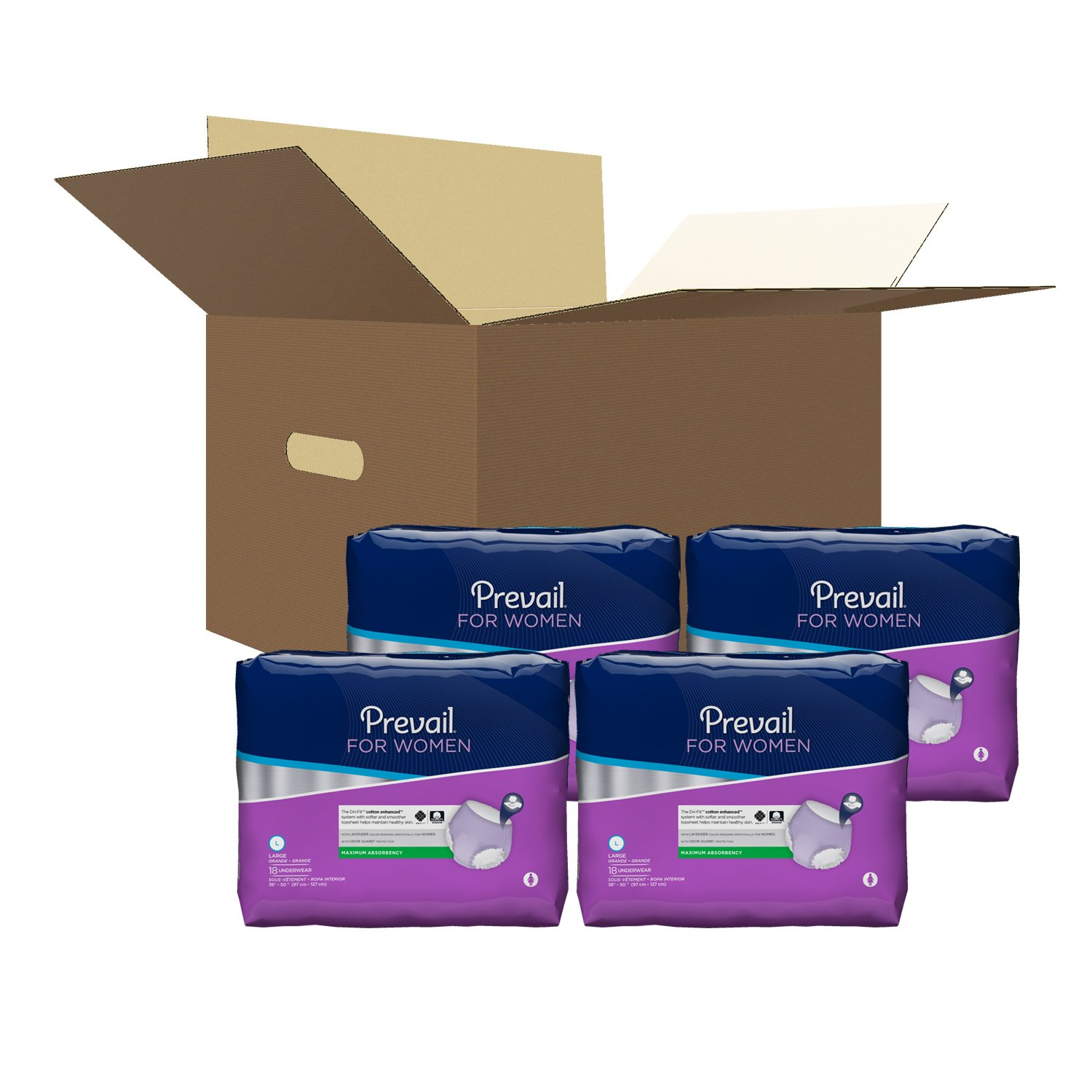 Amazon.com: Prevail Maximum Absorbency Incontinence Underwear for Women, Large, 18-Count: Health & Personal Care