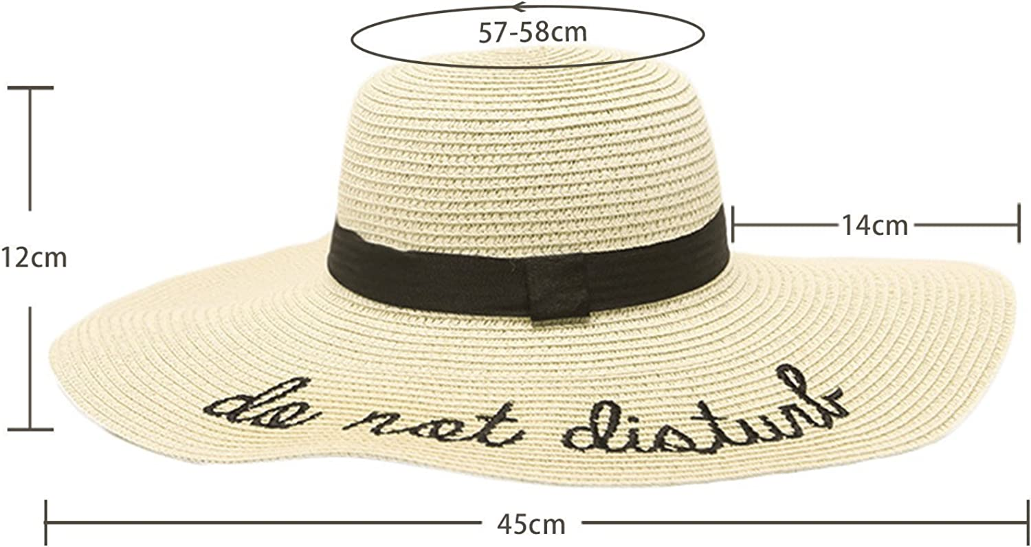 Bangni Wide Brim Summer Hats Women Anti-uv Straw Hat Floppy Foldable Beach sea Chapeau