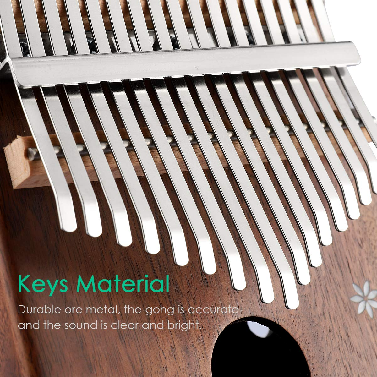 Kalimba 17 Key Thumb Piano Finger Piano Mahogany Wood Body Mbira 17 Tone Musical Instrument for Kids Gift Beginner Musician with Music Book Tune Hammer and Bag by MIFXIN (Image #4)