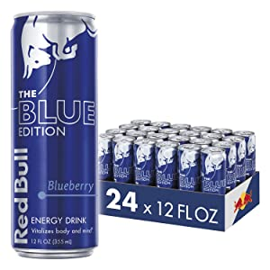 Red Bull Energy Drink, Blueberry, 24 Pack of 12 Fl Oz, Blue Edition