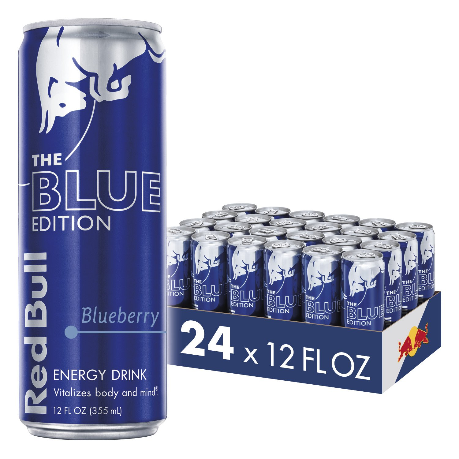 Red Bull, Energy Drink, Blue Edition, Blueberry, 12 Fl.Oz (Pack of 24)