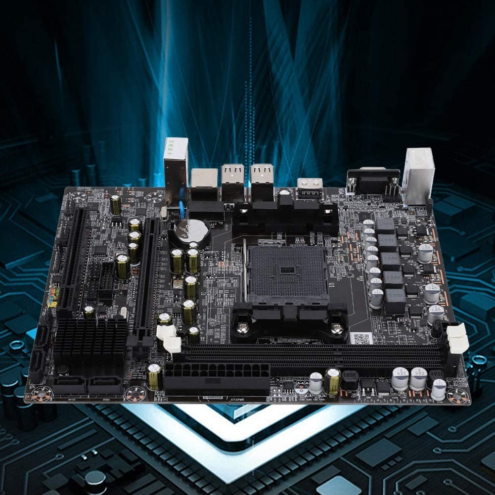 CPU Interface Diyeeni Computer Motherboard DDR3 Memory Desktop for AMD A88 for A10//A8//A6//A4//Athlon Graphics Chip with Battery,Support 1600//1333 4G//8G//HDMI Interface FM2//FM2