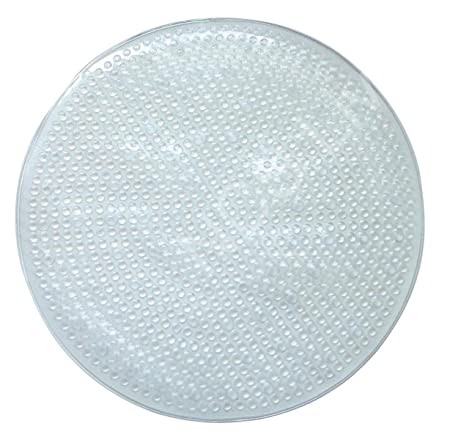 Round Bath Quadrant Corner Shower Mat Non Slip Anti Skid Extra Grip Suction  Cups (White) NCS