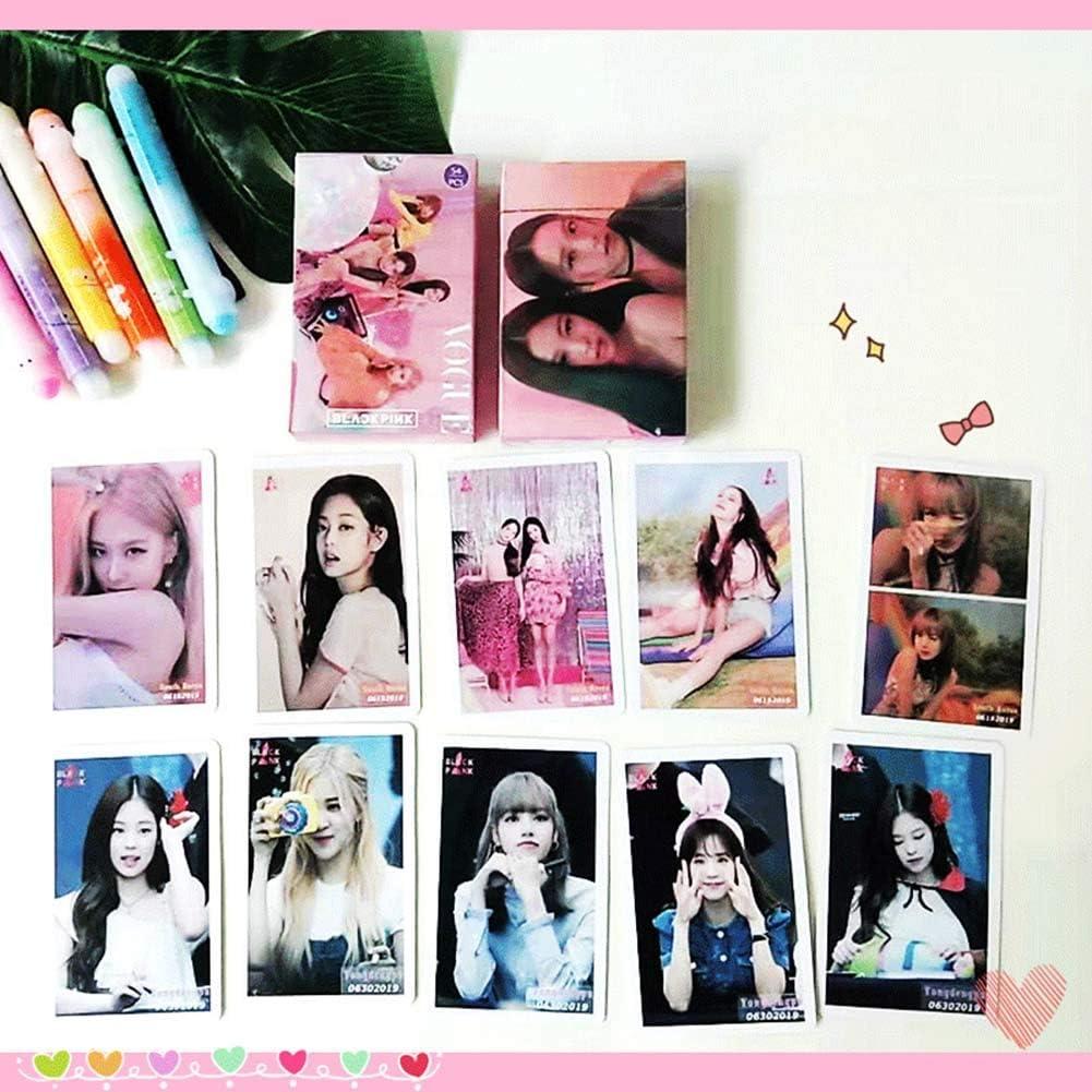 Chutoral Lot de 54 cartes Kpop Kill This Love Noir//rose