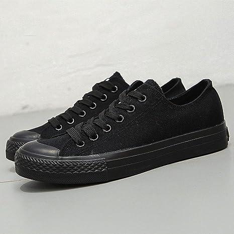 WFL Scarpe di tela da uomo tutte nere scarpe casual scarpe basse basse  scarpe nere da 8a073bfeeaa