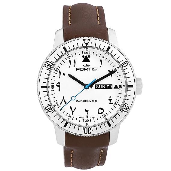 Fortis B-42 Marinemaster al Tayer reloj automático para hombres SWISS 786.11.62 L18: Amazon.es: Relojes