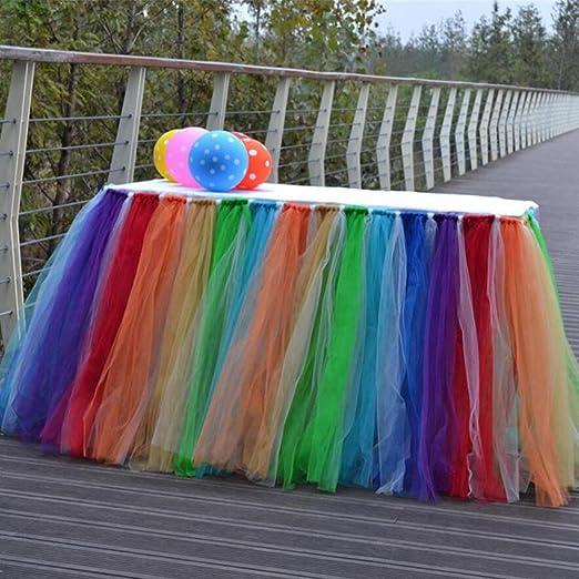 Mesa Tocador falda de tul 7 Color fundas de mantel para mesa de ...