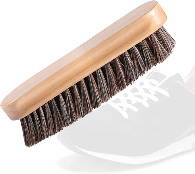 Primeknit /& Delicate Textiles Canvas Premium Soft Bristle Wooden Shoe Care Brush for Suede Gentle Suede Cleaning Brush for Shoes by Klenblu 1 Pack Nubuck