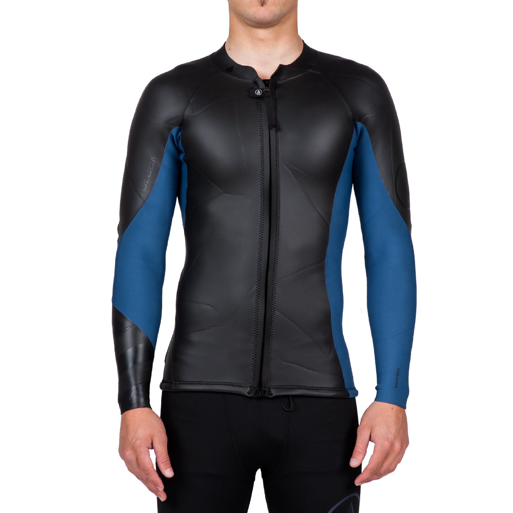 Volcom Men's Lefty Front Zip Jacket, Black, Medium