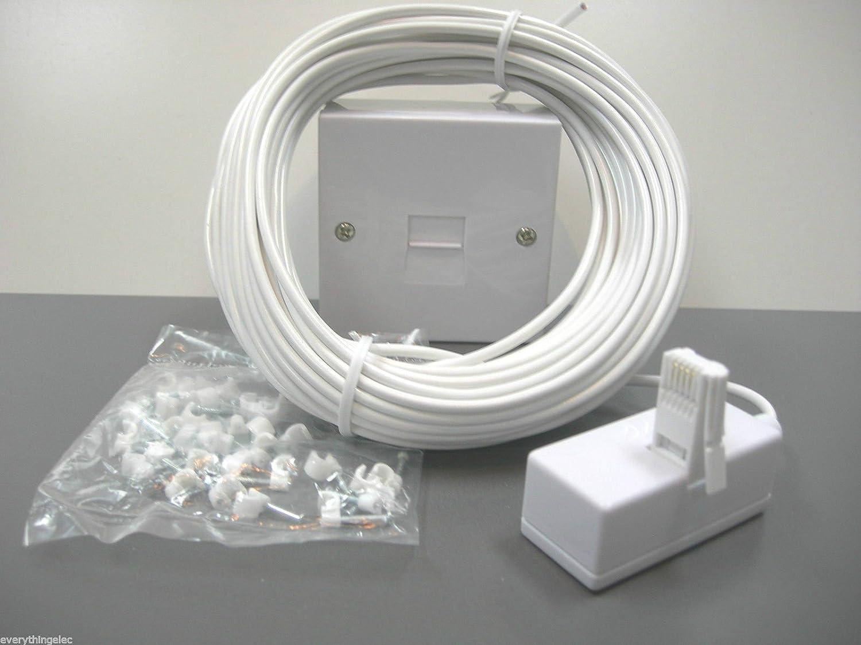 Superb 5 X 15M Diy Telephone Extension Kit Amazon Co Uk Electronics Wiring Digital Resources Funapmognl