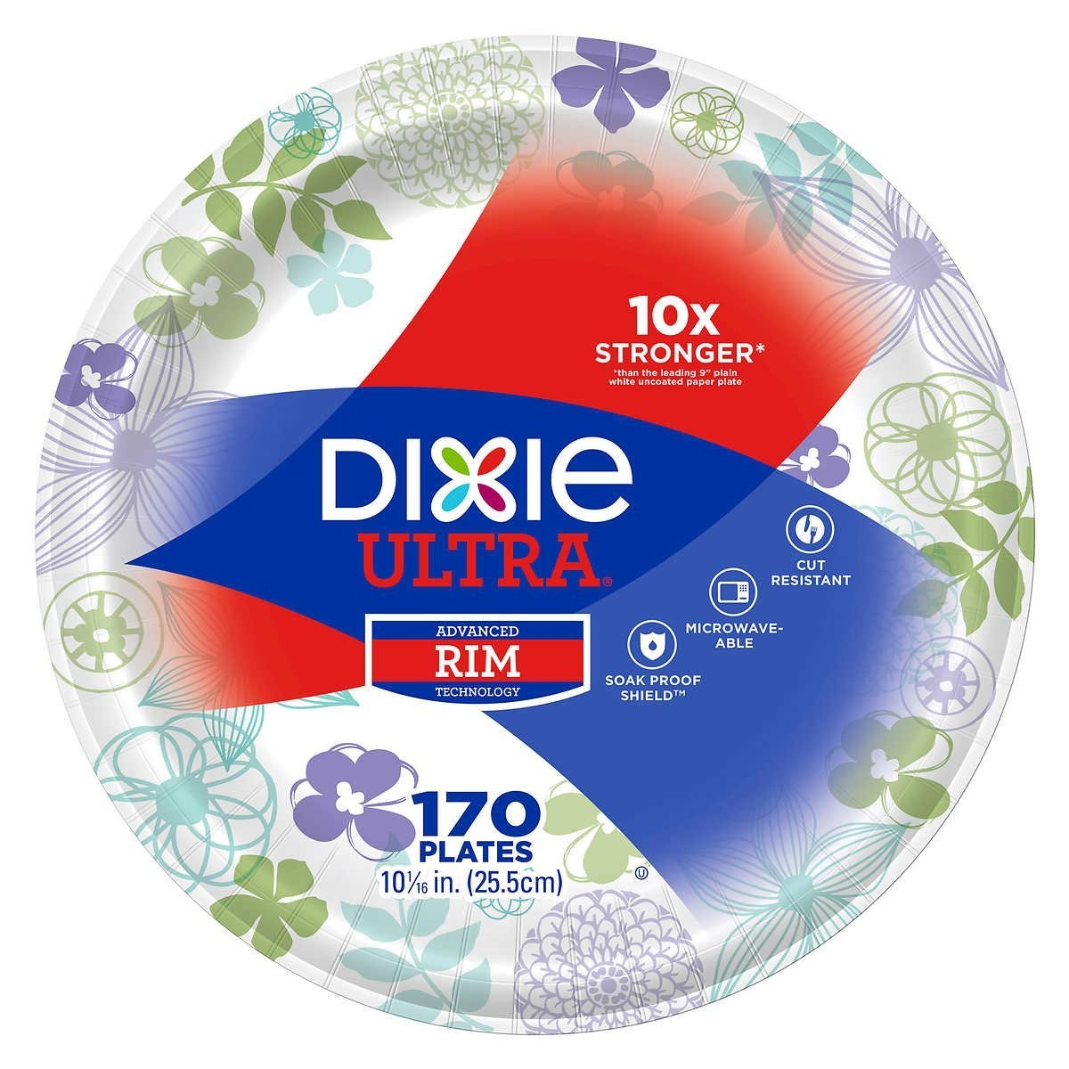 Dixie Ultra Paper Plates 10 - 1/16 Diameter, 170 Count by Dixie