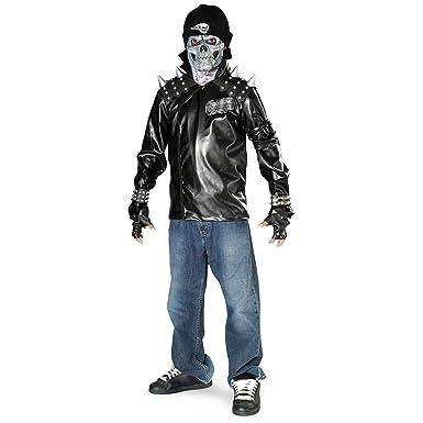 Amazon.com: Boy s Metal diseño de calavera disfraz: Clothing