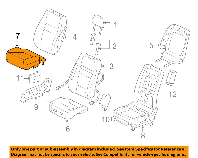 Right Front Honda Genuine 81131-SNA-A41ZA Seat Cushion Trim Cover