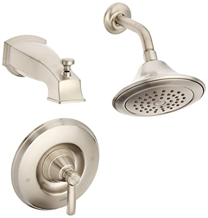 Moen TS2213BN Rothbury Posi Temp Tub And Shower Trim Kit Without Valve,  Brushed Nickel