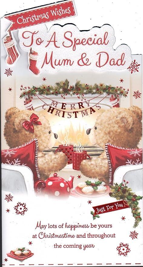 Auguri Di Natale A Una Persona Speciale.Auguri Di Natale Per Una Mamma Speciale E Papa Natale Scheda Amazon