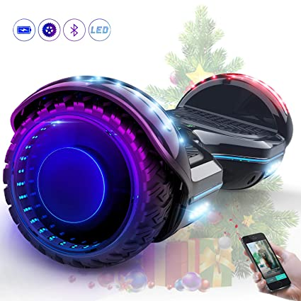 MARKBOARD Hover Scooter Board Patinete Eléctrico Scooter Monopatín Auto- Equilibrio con Bluetooth LED Indicador