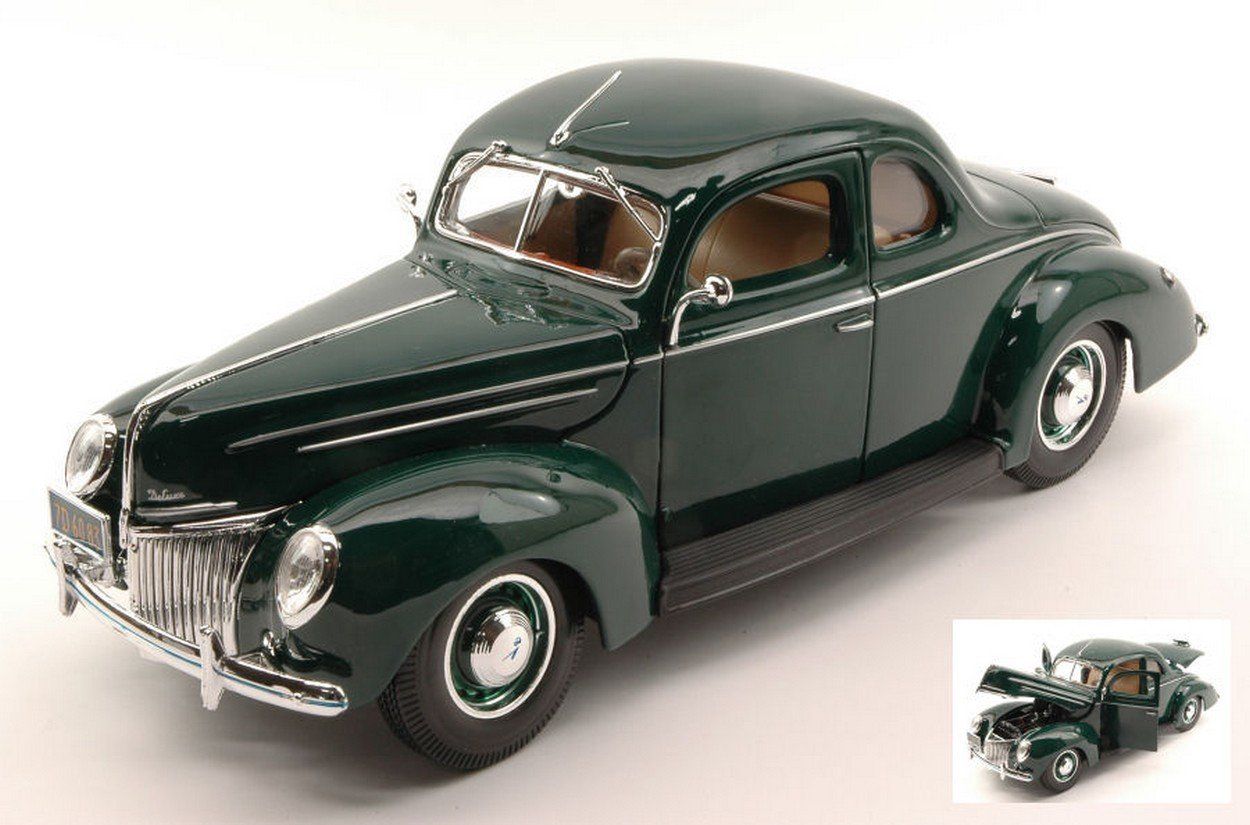 Sin impuestos NEWES MAISTO MI31180GR Ford Deluxe Coupe' 1939 1939 1939 Green 1:18 MODELLINO Die Cast Model  mejor marca