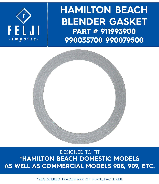 Felji frullatore di ricambio in gomma plastica guarnizione ad anello per Hamilton Beach