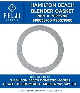 Felji Blender Replacement Rubber Plastic Gasket Ring Seal for Hamilton Beach