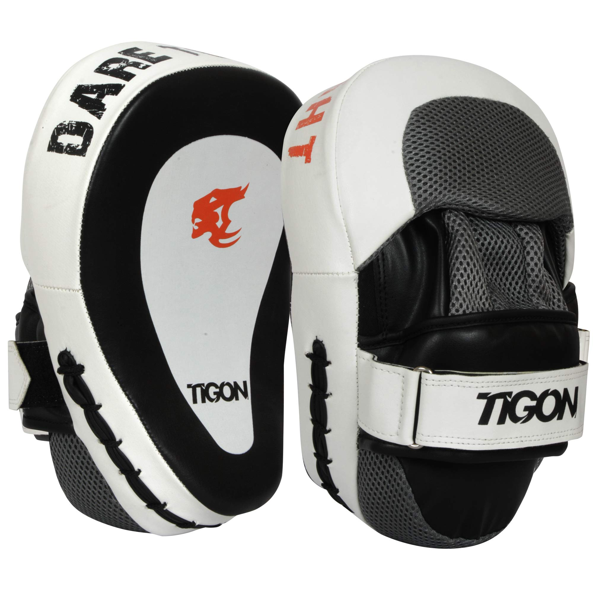 Focus Pads, Hook & Jab Mitts, MMA Boxing Kick Gloves Punching Training Sparring by Tigon Sports