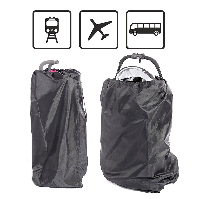 poign/ée de transport Noir Elevavie Gate Check Sac de voyage pour landau pour si/ège de voiture ou de voiture id/éal pour les avions et le rangement avec cordon de serrage /étanche fauteuil roulant