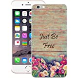 Customizable Hamee Original Designer Cover Thin Fit Crystal Clear Plastic Hard Back Case for Apple iPhone 6 Plus / 6s Plus (Brown Just Be Free)