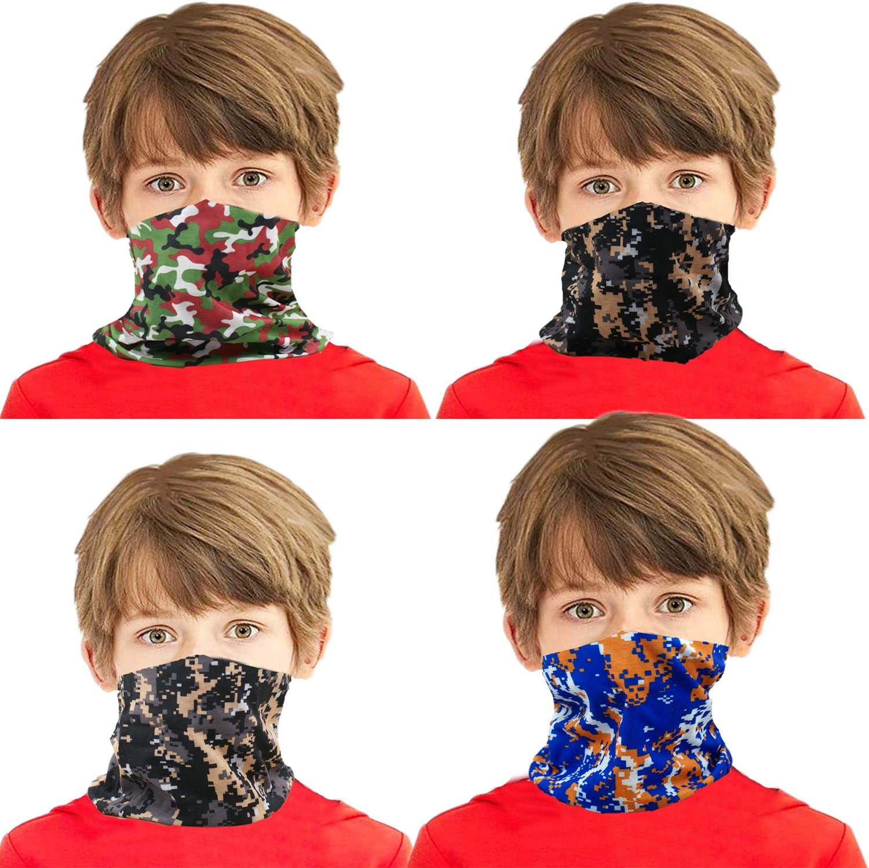 Kids Neck Gaiters Balaclava Bandanas Face Covering for Children Summer Neck Gaiter Color 34