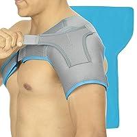 Arctic Flex Shoulder Ice Pack Brace - Cold Reusable Cool Gel Wrap, Hot Therapy -...