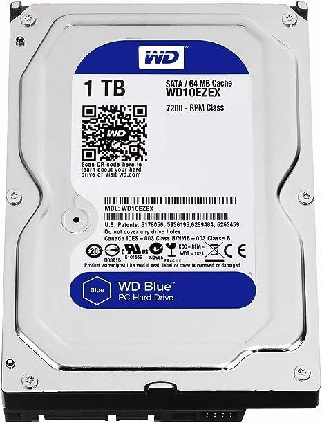 Western Digital WD10EZEX 3.5-Inch 1 TB SATAIII Internal Hard Drive - Black:  Amazon.co.uk: Computers & Accessories