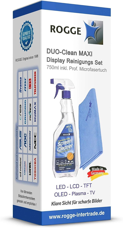 Rogge Duo Clean Maxi 750ml Bildschirmreiniger Inkl 1 Elektronik