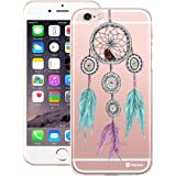 Customizable Hamee Original Designer Cover Thin Fit Crystal Clear Plastic Hard Back Case for Apple iPhone 6 / 6s (Large Dreamcatcher)