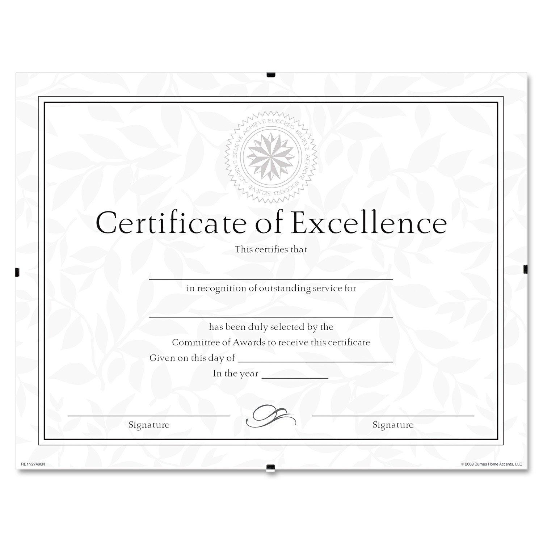 DAX N17081AT 8-1/2x 11 Document Clip Frame, Clear Pinnacle Frames