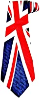 Men's Neck Tie - Good Quality Tie with Union Jack Design Made of Silk