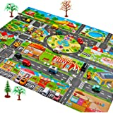 EKIMI Kids Carpet Playmat Rug Great for Cars and Toys, Kids Baby, Children Educational Non-Slip Road Traffic Play Mat for Kidrooms,Playroom and Classroom (Rugs)
