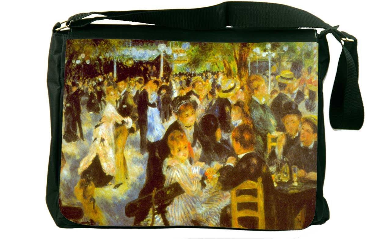 Rikki Knight Pierre-August Renoir Art Moulin Galette Messenger Bag School Bag