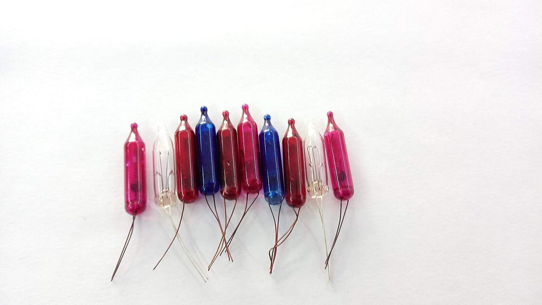 PIEFFELINE Lampada pisellino Lampadina colorato 12 Volt 50 mAh Confezione 10 Pezzi