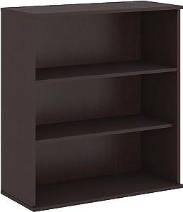 Bush Business Furniture Easy Office 48H 3 Shelf Bookcase in Mocha Cherry