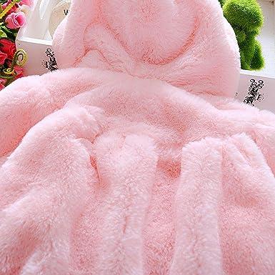 Elevin TM Baby Infant Girls Fur Coat Cloak Jacket Winter Thick Warm Clothes